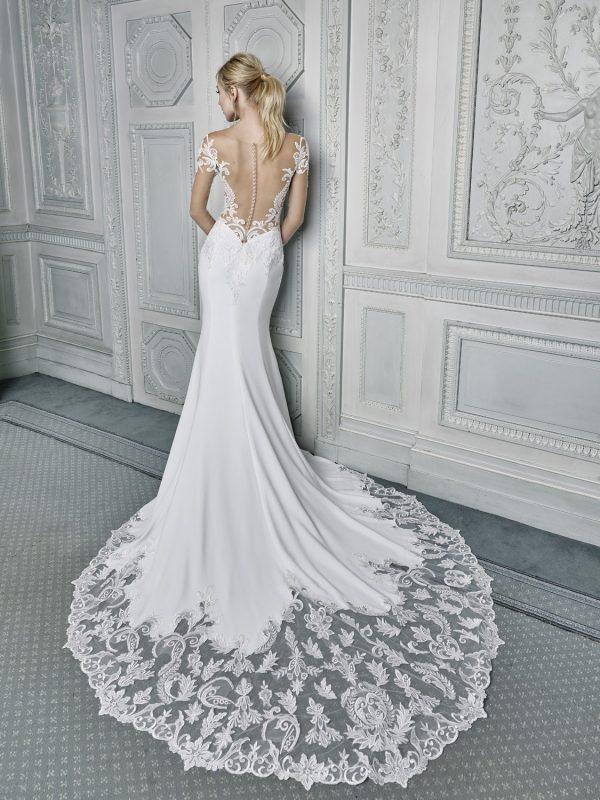 Ellis Bridals Mauve Wedding Dress