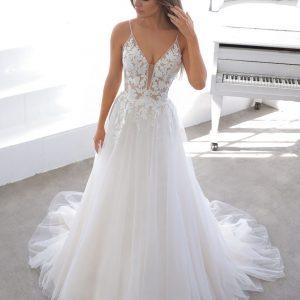 Enzoani Blue Normandie Wedding Dress | Krystle Brides