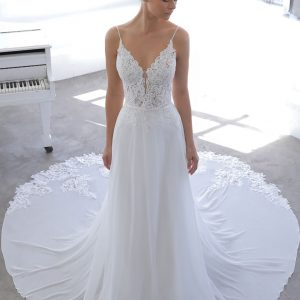 Enzoani Blue Novella Wedding Dress | Krystle Brides